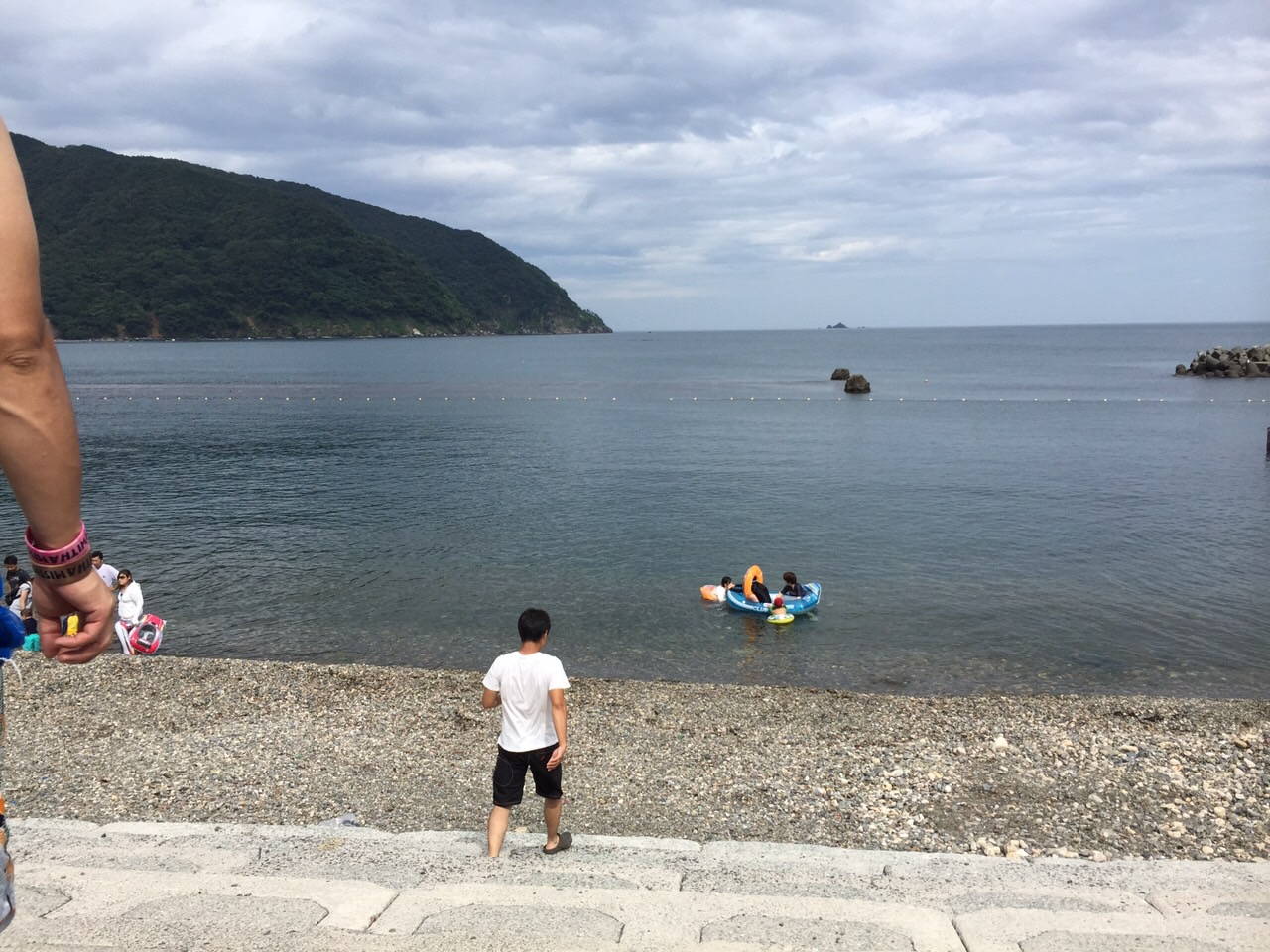Shikimi swimming area(Fukui prefecture)BBQ and aquarium