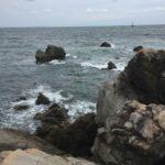 和歌山県中紀の濁り水潮と北風に強い春イカエギングポイント地磯産湯崎の釣り場紹介