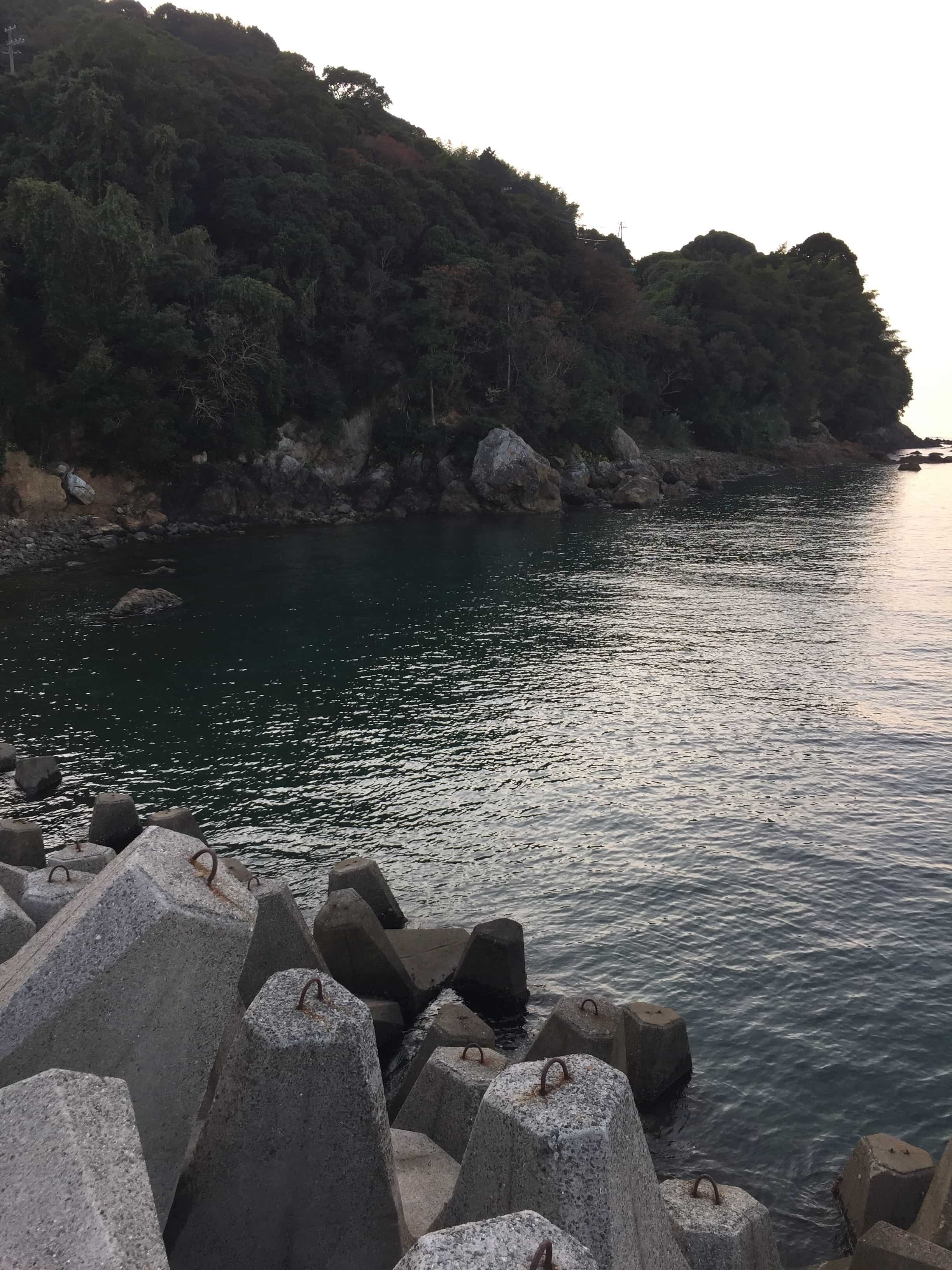 三尾川漁港の釣り場紹介(和歌山県中紀)雨のあとでも濁りにくいエギング漁港
