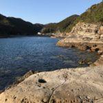 笠甫地磯の釣り場紹介、和歌山県南紀の南ウネリと北西風に強い春イカ狙いのエギングにオススメの地磯