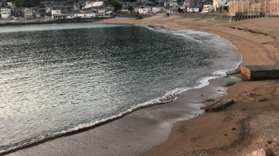 Obiki fishing port & swimming area(squid fishing & sand borer fishing)Wakayama Japan