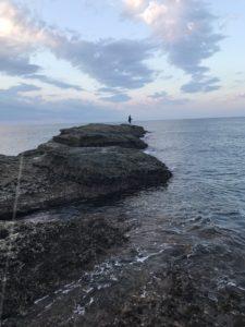南紀エギングランガン日置白浜でアオリイカ爆釣志原磯