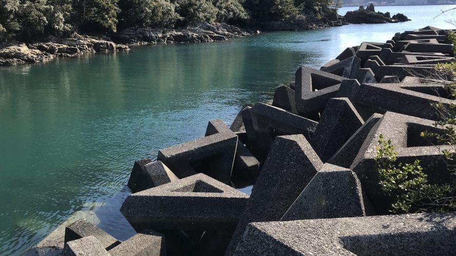 湯川海水浴場河口部の釣り場紹介、和歌山県南紀那智勝浦の河口部でチニングとシーバスにオススメの釣り場