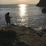 日置大向出城下の釣り場紹介、和歌山県南紀日置の北西風に強い隠れたエギングにオススメの地磯