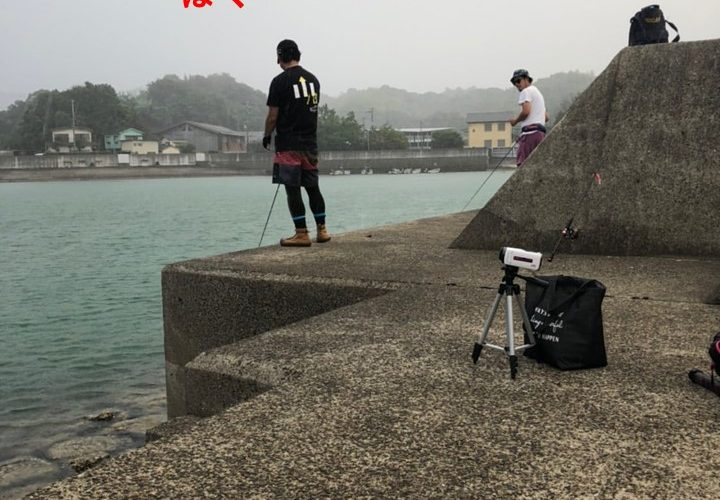 お盆夏イカエギングと笠松仁さんのテスト中エギングロッドハングアウトを触る触る釣行記