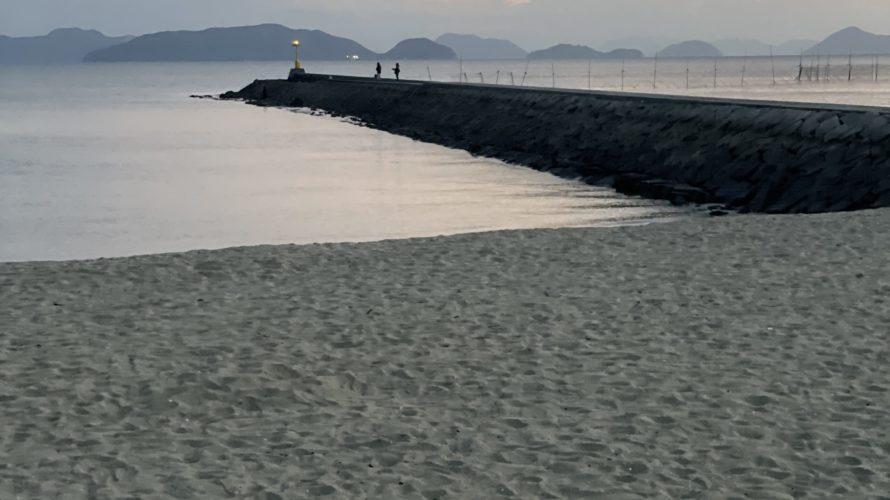 【イイダコ・マテ貝】沙美海岸の釣り場紹介、岡山県倉敷のファミリーで釣りを楽しめる海水浴場