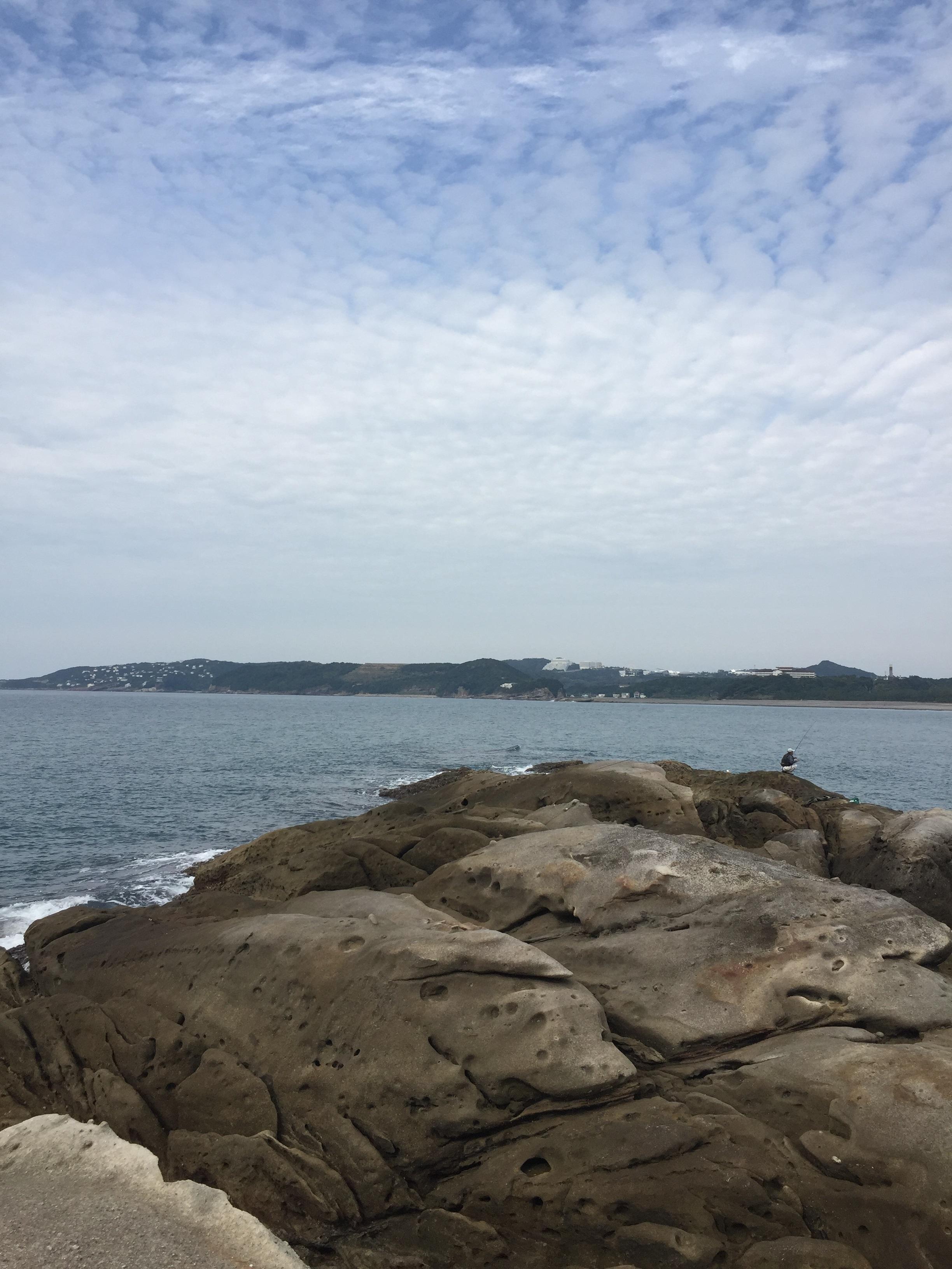 富田川河口丸山の釣り場紹介、和歌山南紀の干潮だけで人のいないエギングショアジギング地磯