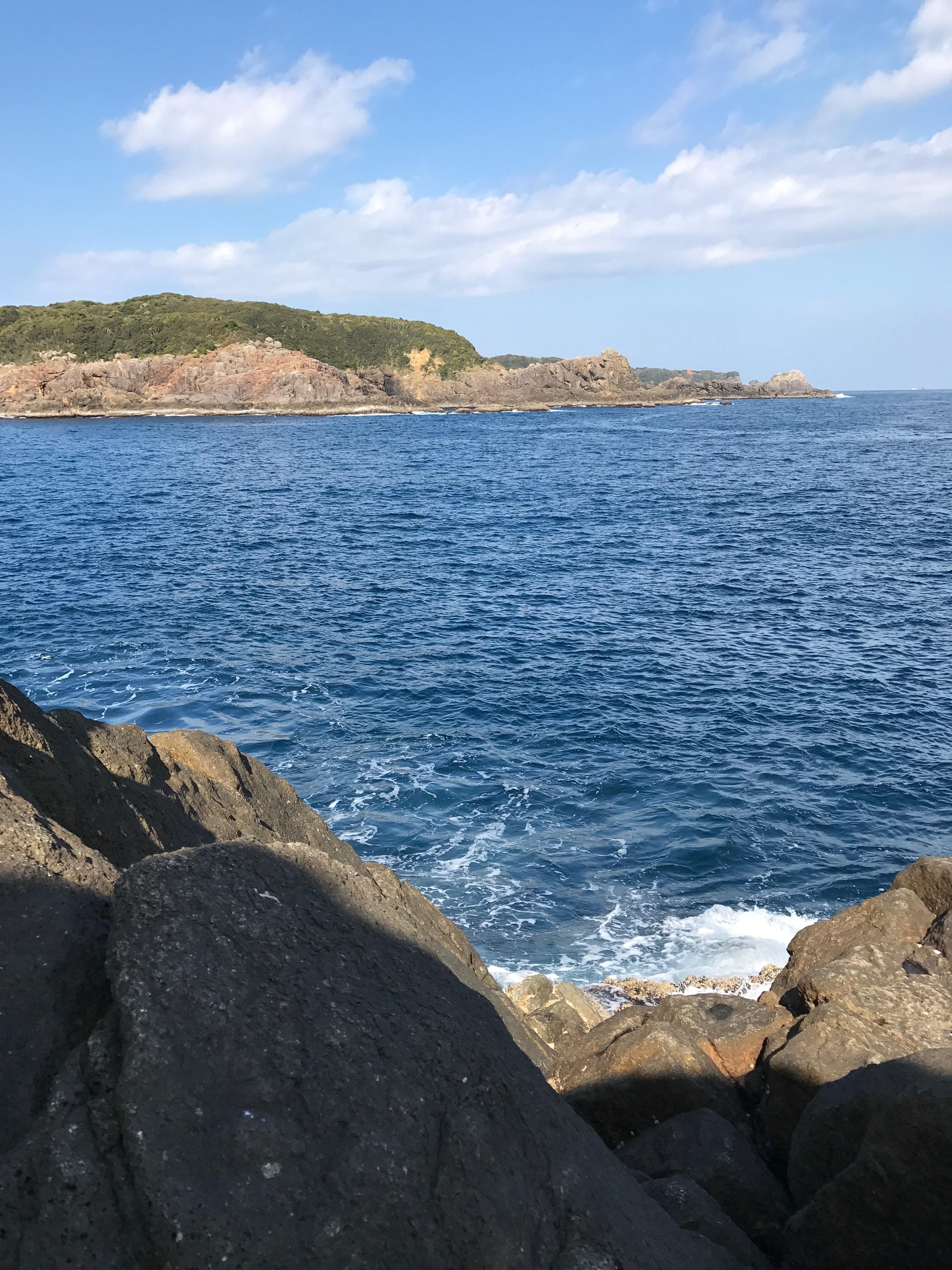 須江崎ズログチの釣り場紹介、和歌山県南紀串本大島のショアジギングとエギングにオススメの北西風に強いドン深地磯