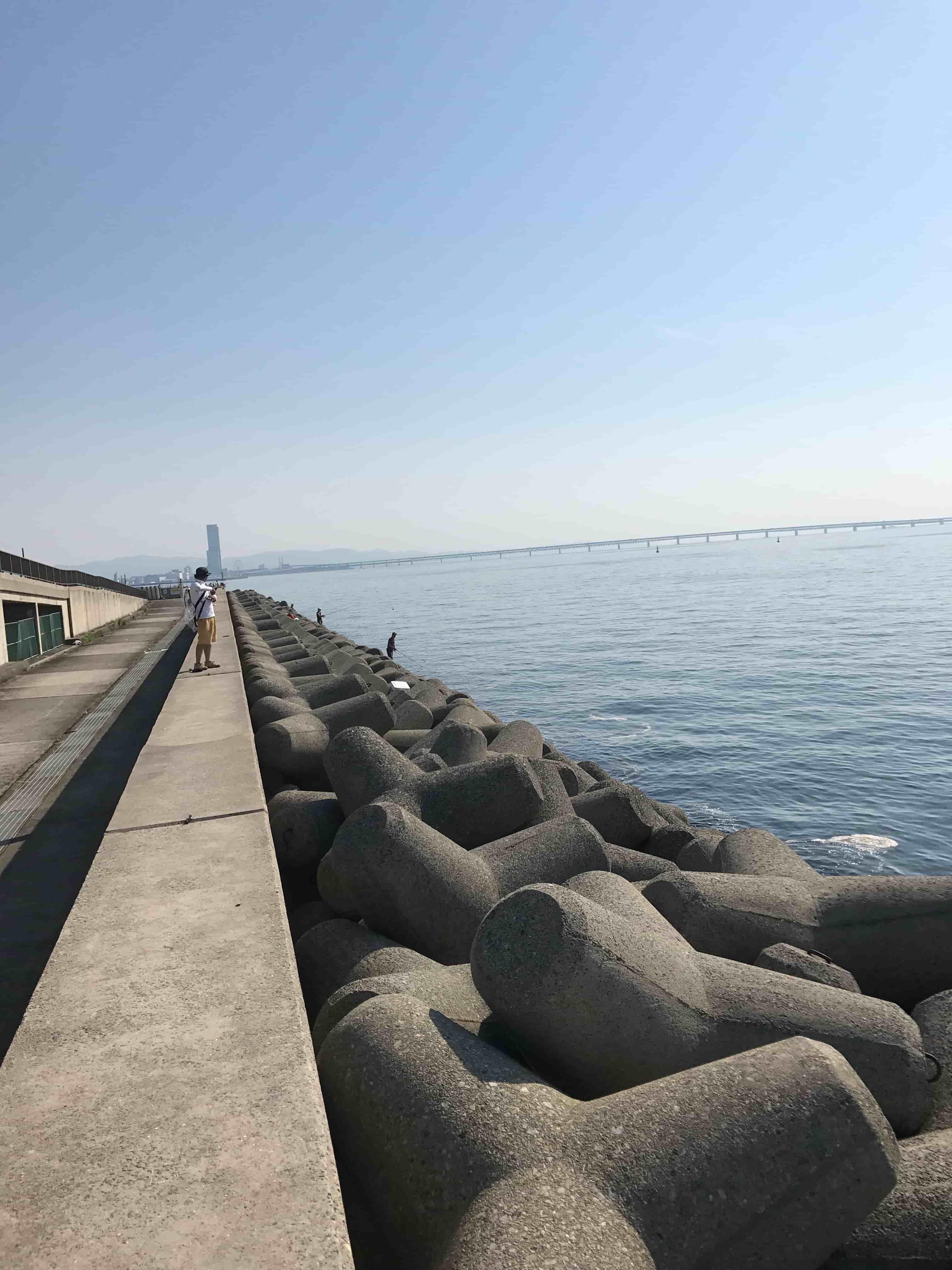 Kaizuka artificial island(shore jigging fishing spot in Osaka Japan)