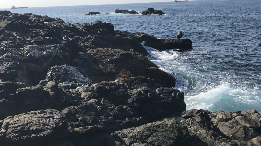 マキ崎地磯の釣り場紹介、和歌山県南紀串本の潮通しの良いエギングにオススメショアキャスティングにオススメの地磯