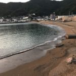 Obiki fishing port & swimming area(squid fishing & sand borer fishing)Wakayama Japan