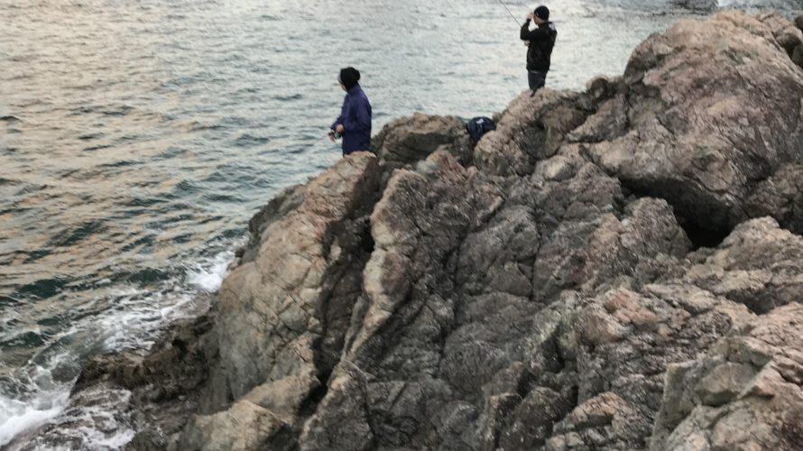 日本海強風ウネリの秋イカ調査釣行