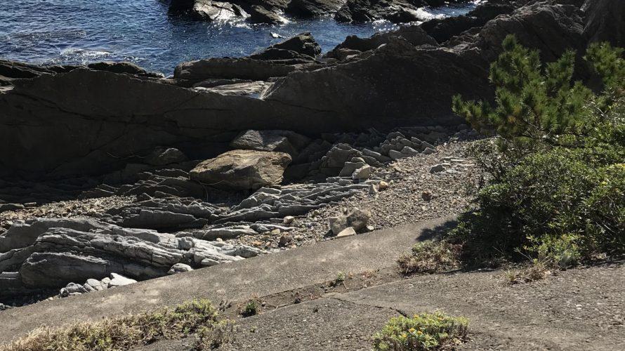 北西風に強い和歌山南紀伊古木地磯のエギング釣り場紹介