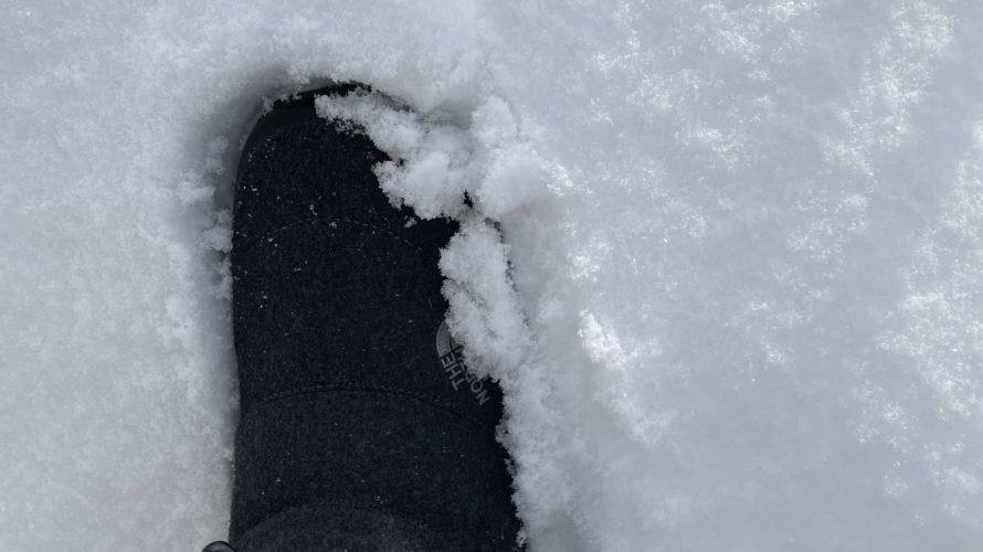 【ヌプシ】冬の釣りにおすすめの防水の靴!ダウンでノースフェイス・ヌプシのブーツがおすすめ!(冬の北海道でも暖かい)